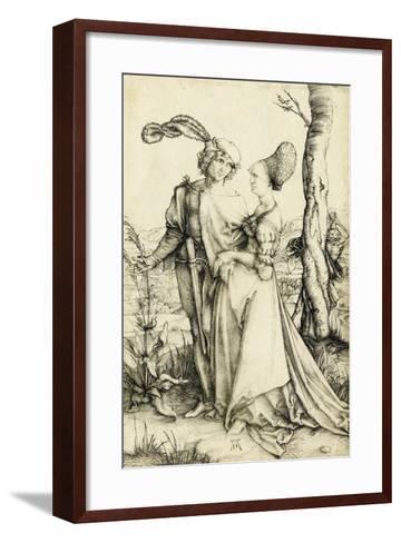 Promenade (Young Couple Threatened by Death)-Albrecht D?rer-Framed Art Print
