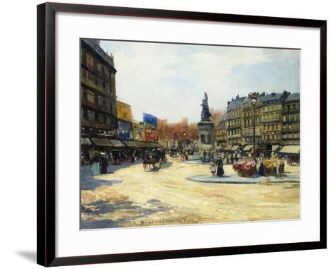 Place Clichy, Paris-Carlo Brancaccio-Framed Art Print