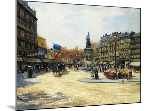 Place Clichy, Paris-Carlo Brancaccio-Mounted Giclee Print