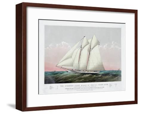 The Schooner Yacht Magic of the New York Yacht Club-Currier & Ives-Framed Art Print