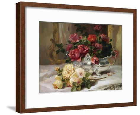 Roses on a Dressing Table-Eugene Henri Cauchois-Framed Art Print
