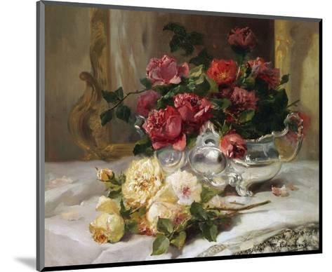 Roses on a Dressing Table-Eugene Henri Cauchois-Mounted Giclee Print