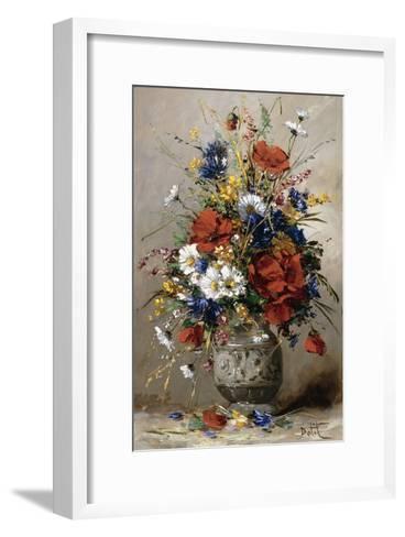 A Vase of Summer Flowers-Eugene Petit-Framed Art Print
