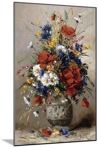 A Vase of Summer Flowers-Eugene Petit-Mounted Giclee Print