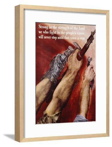 Strong in the Strength of the Lord Poster-David Stone Martin-Framed Art Print