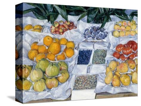 Fruit Displayed on a Stand-Gustave Caillebotte-Stretched Canvas Print