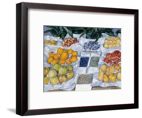 Fruit Displayed on a Stand-Gustave Caillebotte-Framed Art Print