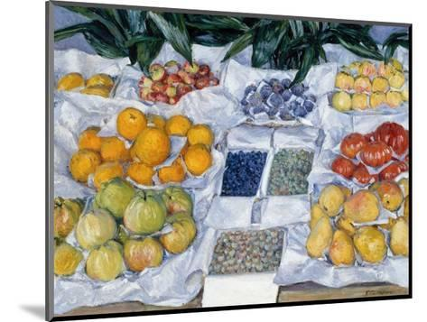 Fruit Displayed on a Stand-Gustave Caillebotte-Mounted Giclee Print