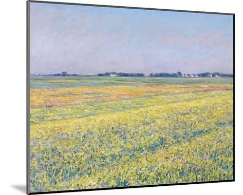The Plain of Gennevilliers, Yellow Fields-Gustave Caillebotte-Mounted Giclee Print