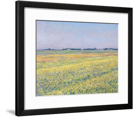 The Plain of Gennevilliers, Yellow Fields-Gustave Caillebotte-Framed Art Print