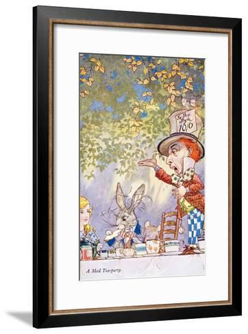 A Mad Teaparty-Charles Folkard-Framed Art Print