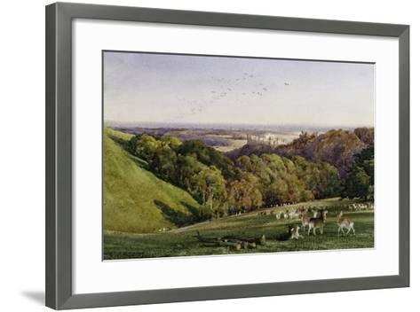Evening in Arundel Park, Sussex, England-Charles James Adams-Framed Art Print