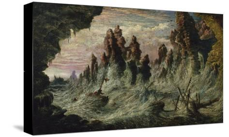 Shipwrecked Boats Battling the Storm-Gustave Dor?-Stretched Canvas Print