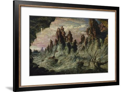 Shipwrecked Boats Battling the Storm-Gustave Dor?-Framed Art Print