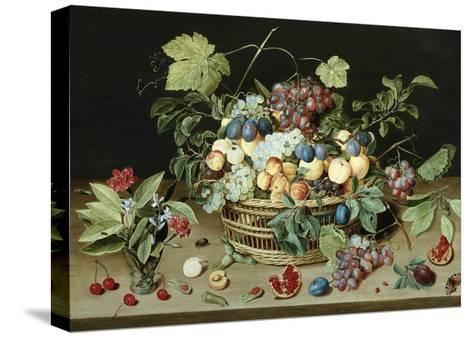 Still Life with a Basket of Fruit-Isaac Soreau-Stretched Canvas Print