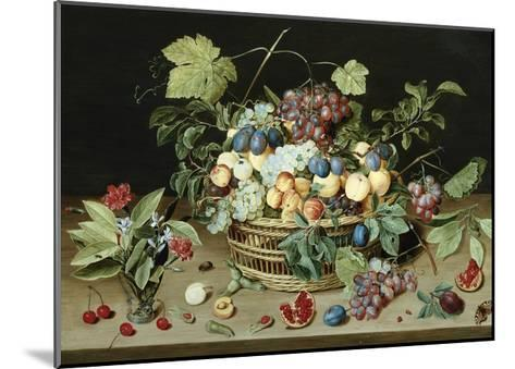 Still Life with a Basket of Fruit-Isaac Soreau-Mounted Giclee Print