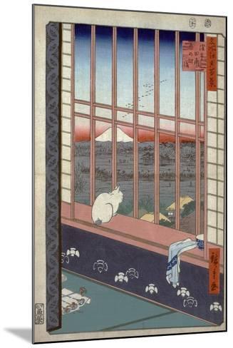 Asakusa Ricefields and Torinomachi Festival-Ando Hiroshige-Mounted Giclee Print