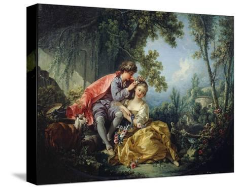 The Four Seasons: Spring-Francois Boucher-Stretched Canvas Print
