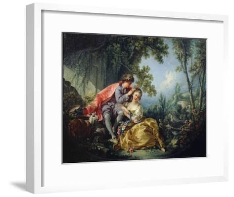 The Four Seasons: Spring-Francois Boucher-Framed Art Print