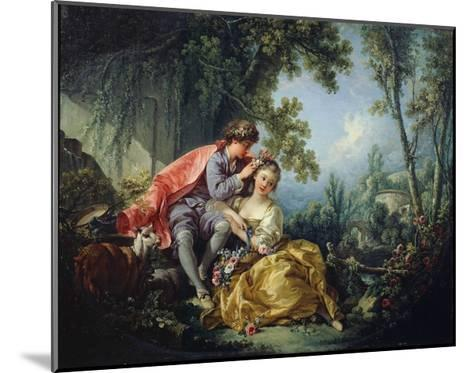 The Four Seasons: Spring-Francois Boucher-Mounted Giclee Print