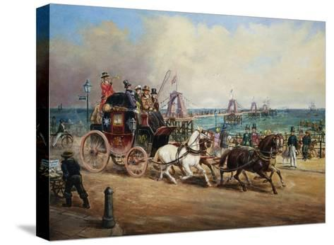 The Arrival of the Royal Mail, Brighton, England-John Charles Maggs-Stretched Canvas Print