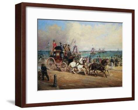 The Arrival of the Royal Mail, Brighton, England-John Charles Maggs-Framed Art Print