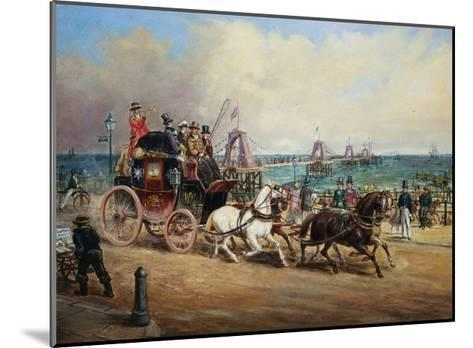 The Arrival of the Royal Mail, Brighton, England-John Charles Maggs-Mounted Giclee Print