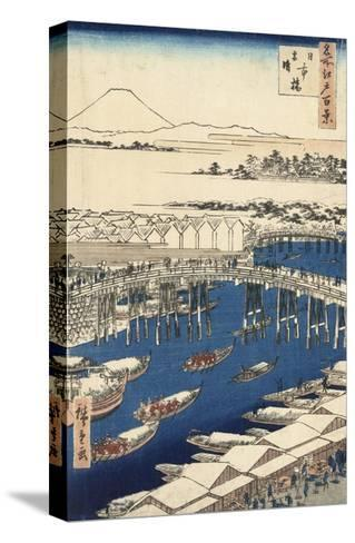 Nihonbashi, Clearing after Snow-Ando Hiroshige-Stretched Canvas Print