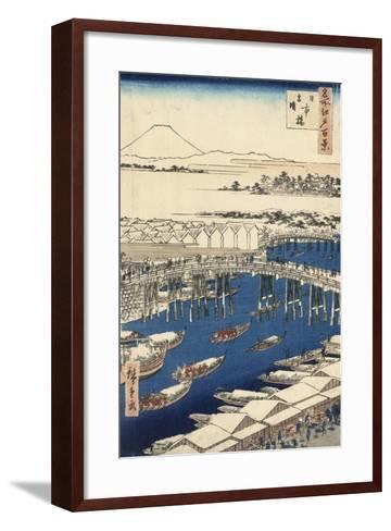 Nihonbashi, Clearing after Snow-Ando Hiroshige-Framed Art Print