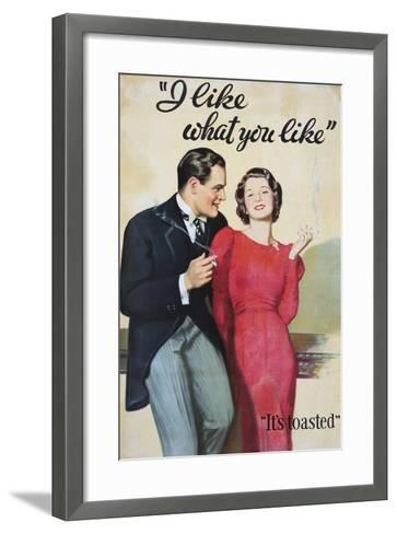 I Like What You Like Advertising Poster-Hayden Hayden-Framed Art Print