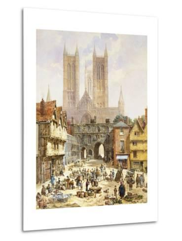 A View of Lincoln Cathedral, England-Louise J^ Rayner-Metal Print