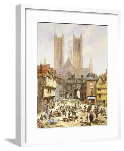 A View of Lincoln Cathedral, England-Louise J^ Rayner-Framed Art Print