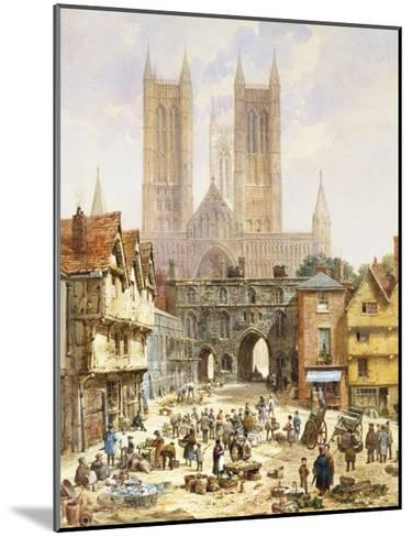 A View of Lincoln Cathedral, England-Louise J^ Rayner-Mounted Giclee Print