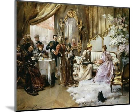 An Elegant Tea Party in the Artist's Studio-Madeleine Jeanne Lemaire-Mounted Giclee Print