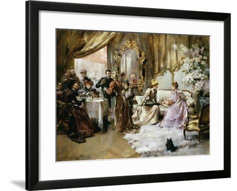 An Elegant Tea Party in the Artist's Studio-Madeleine Jeanne Lemaire-Framed Art Print