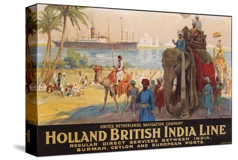 Holland British India Line Poster-E.V. Hove-Stretched Canvas Print