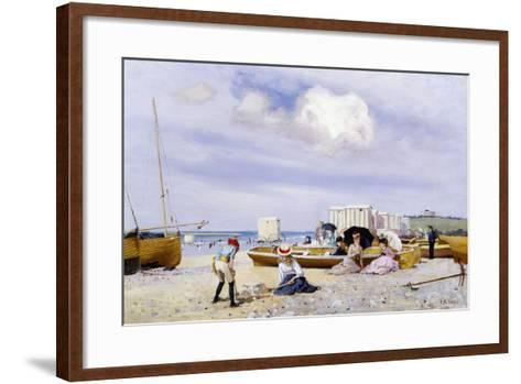 Wear Bay Beach, Folkestone-Frank M. Chase-Framed Art Print