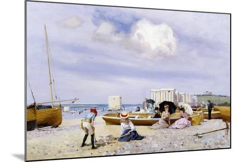 Wear Bay Beach, Folkestone-Frank M. Chase-Mounted Giclee Print