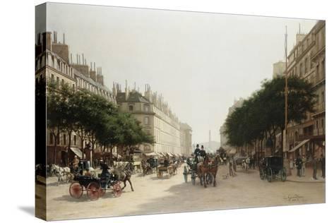 La Rue Royale, Paris, France-Edmond-Georges Grandjean-Stretched Canvas Print