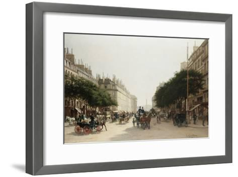 La Rue Royale, Paris, France-Edmond-Georges Grandjean-Framed Art Print