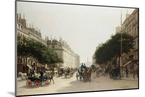 La Rue Royale, Paris, France-Edmond-Georges Grandjean-Mounted Giclee Print