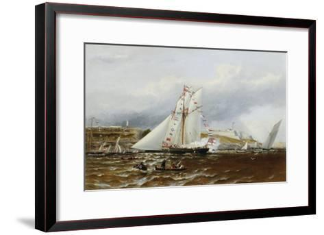 A Regatta at Plymouth, England-Henry A. Luscombe-Framed Art Print