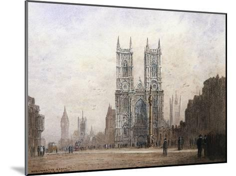 Westminster Abbey, London-Fred E^J^ Goff-Mounted Giclee Print