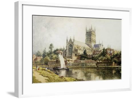 Worcester Cathedral-John O'connor-Framed Art Print