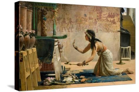The Obsequies of an Egyptian Cat-John Reinhard Weguelin-Stretched Canvas Print