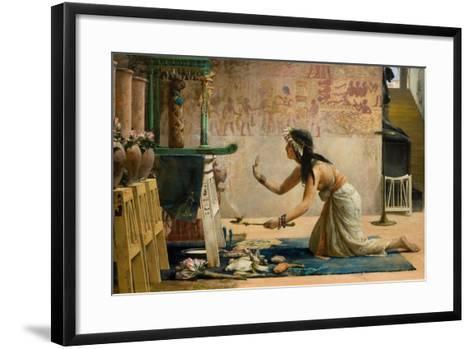 The Obsequies of an Egyptian Cat-John Reinhard Weguelin-Framed Art Print