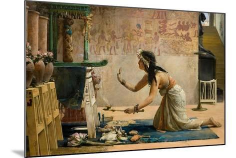 The Obsequies of an Egyptian Cat-John Reinhard Weguelin-Mounted Giclee Print