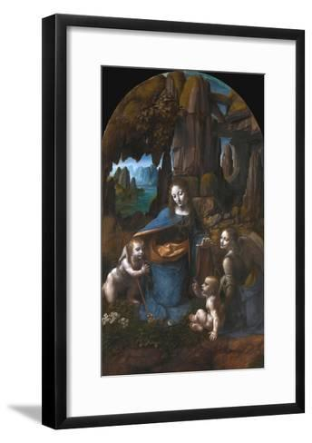 Virgin of the Rocks-Leonardo da Vinci-Framed Art Print