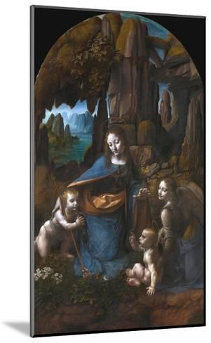 Virgin of the Rocks-Leonardo da Vinci-Mounted Giclee Print