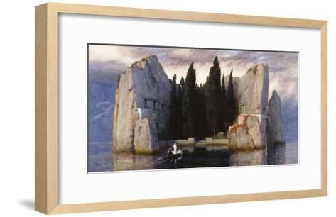 The Isle of the Dead-Arnold Bocklin-Framed Art Print